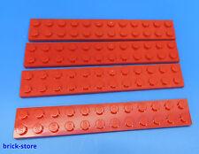 LEGO Nr- 4255035 / 2x12 Plaque rouge / 4 Pièces