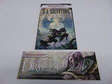 D&D DUNGEONS & DRAGONS LEGEND OF DRIZZT BOOKMARK & NEVERWINTER BOOK II  HC546