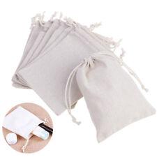 10Pcs Natural Burlap Bags Jute Hessian Drawstring Sack Small Wedding Favor Gift