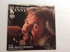 KENNY ROGERS You Decorated My Life VG(+) 45 RPM with cover