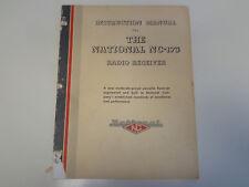 National NC-173 Radio Receiver Instruction Manual 1950's Amateur Radio