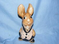 Pendelfin Stoneware Rabbit Uncle Soames Pale Pink Burnley England