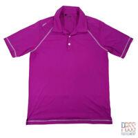 Adidas Golf Mens M Short Sleeve Polyester Polo Shirt Regular Fit Pink