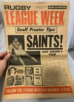 Rugby League Week, vol 2, no 1, March 1971, Saints, Gibson, Prenter, Walsh Coote