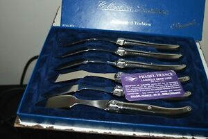 6 Knives A Fish Laguiole PRADEL France Collection Luxinox New Stainless Steel