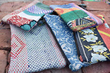 Wholesale Lot of 50 pcs vintage kantha Pouches Handmade cotton Makeup Bags