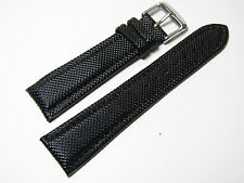 22mm Hadley-Roma MS841 Mens Black Textured Kevlar Watch Band Strap