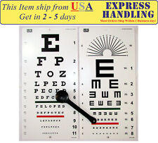"""Traditional Snellen & Tumbling """"E"""" Eye Test Chart with Occluder (Set of 3)"""