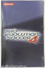 Notice de PRO EVOLUTION SOCCER 4 pes 4 playstation 2 PS2 booklet manual livret