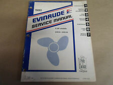 1980 Evinrude Servicio de Reparación Manual Taller 4hp E4WCS-E4RLCS Oem Bote