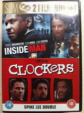 DENZEL WASHINGTON Inside Job Man / clockers ~ Spike Lee SUSPENSE Double Bill GB