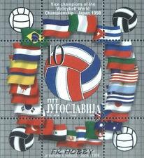 Yugoslavia 1998 Mi BL 48 ** Sport Volleyball Flags