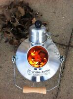 Small Maverick Ghillie Kettle. Silver, hard anodised or aluminium. Made in UK.