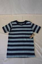 NEW Boys T Shirt Size 12 - 14 Large Top Blue Striped Tee Short Sleeve Clothes