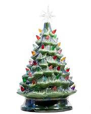 ReLIVE Christmas is Forever Tabletop Green Pearlized Tree w/ Multi Color Lights!