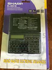 Sharp Memo Master El-6051B Electronic Organizer Vintage Pda