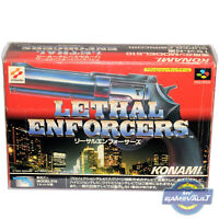 Lethal Enforcers Game BOX PROTECTOR for Super Famicom & PAL Snes 0.5mm PET CASE