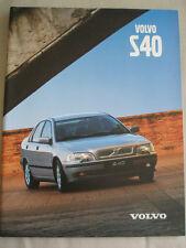 Volvo S40 range brochure Jan 1999