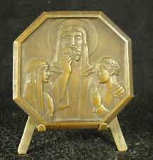 Médaille religieuse c1950 Hostie Christ célébration de l'Eucharistie Medal