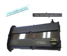 CARBON FIBER (CUSTOM TEXT) Spark Plug cover Fits For 00-04 Ford Focus 2.0L Zetec