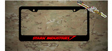Stark Industriesl Iron Man Plastic License Plate Frame Vinyl Decal Avengers Red