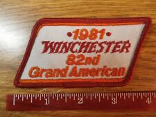 1981 Winchester Cloth Patch - 82nd Grand American Trapshoot