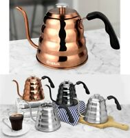 Pour Over Coffee Drip Kettle with Gooseneck Spout and Built-in Thermometer 40oz
