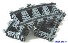 Lego ® ferrocarriles 12x gebogne raíles (3677,7897,7898, 7938,7939,60051,60052)