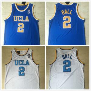 Lonzo Ball  # 2  UCLA College Blue white Basketball Jersey Stitched size S-XXL