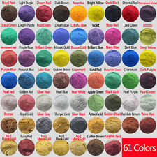 10g Cosmetic Grade Natural Mica Powder Soap Candle Eyeshadow Lipsticks 61 Colors