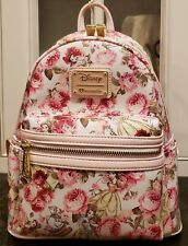 NWT Loungefly Disney Princess Belle Floral Mini Backpack