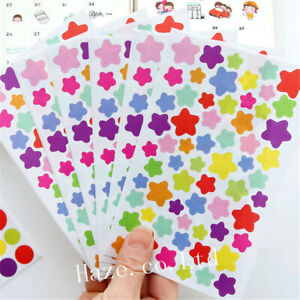 6Sheets/Set Scrapbooking Decorative Stickers Adhesive DIY Diary Stickers New