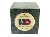 75th Anniversary HC Houston Chronicle Paperweight By Paperweights, Inc.