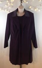 Purple Blazer Jacket and DRESS SET Size 11/12 career special occasion