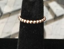 ❁  14KT Gold Stretch Bead Toe Ring Comfy! ❁