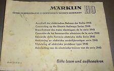 manuel MÄRKLIN CONNEXION Le ELECTRIQUE TRAINS 68 605 LN 05 66 JU Å