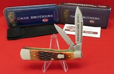 Case Brothers 62130 SS Large Gunstock 2004 Chestnut Bone Mint Knife #05295 XX
