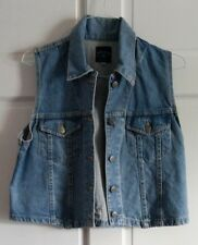 Smith & Wesson Size L Denim Jean Vest with painted back