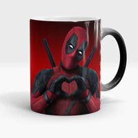 Deadpool mug magic Funny gift for boyfriend Superhero Color Changing coffee cup