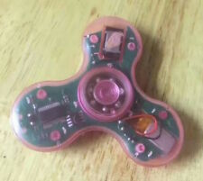 LOT Transparent BLUETOOTH SPEAKER Light LED TRI FIDGET SPINNER rechargeable toy