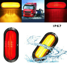 2pcs LED Car Turn Heavy Trucks Guiding Tail Lamp Rear Brake Light Red & Yellow