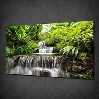 WATERFALL IN THE RAINFOREST MODERN CANVAS WALL ART PRINT PICTURE READY TO HANG