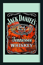 Jack Daniels on Ice Nostalgie Barspiegel Spiegel Bar Mirror 22 x 32 cm
