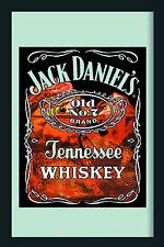 Jack Daniels on Ice Nostalgie Barspiegel Spiegel Bar Mirror 22 x 32 cm
