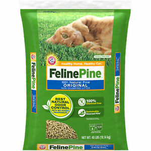 40LB Feline Natural Pine Original Cat Litter Powerful Odor Control Absorbent