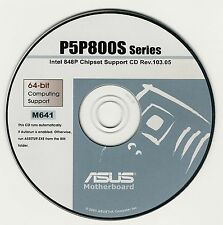 ASUS GENUINE VINTAGE ORIGINAL DISK FOR P5P800S Motherboard Drivers Disk M641
