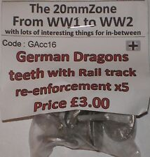 Early War 20mm (1/72) German Dragons Teeth With Rail Tracks (5)