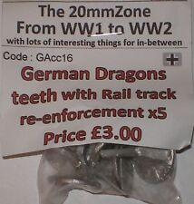 Early War 20mm (1/72) German Dragons Teeth With Rail Tracks (5)