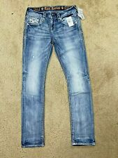 Rock Revival Barbila Straight EP9344J209R Denim women jeans size 27 - NEW