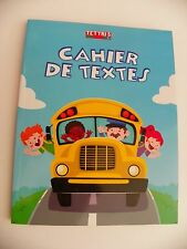 Cahier de textes agenda school bus 17x22 FRENCH RULING  SEYES 6.7x8.67''